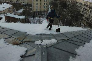 Уборка снега с муниципальных зданий